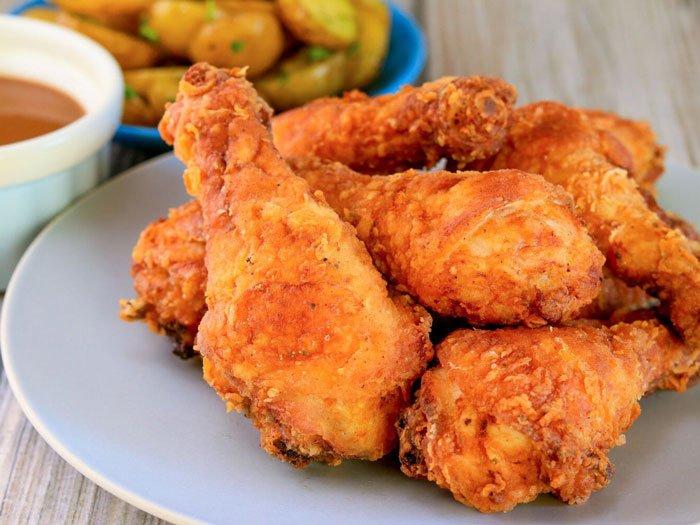 مرغ سوخاری خانگی یا رستورانی