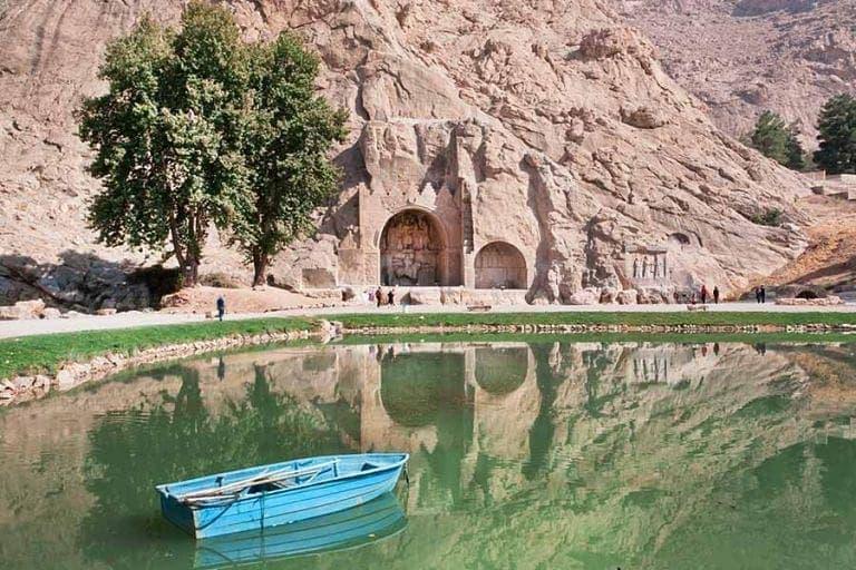 منظره طاق بستان کرمانشاه