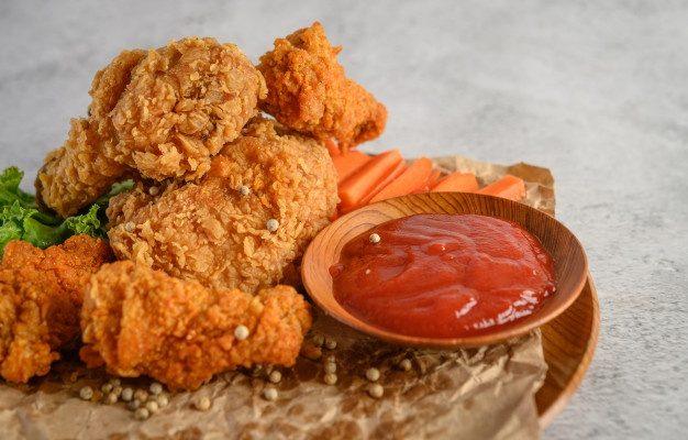 مرغ سوخاری کریسپی