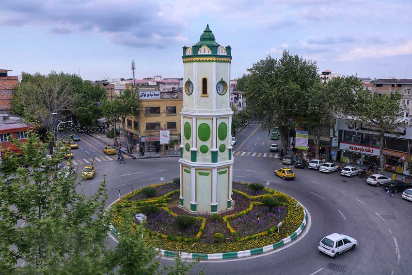 نمای میدان شهر ساری
